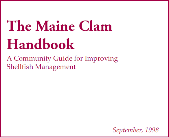 Picture of the Maine Clam Handbook cover